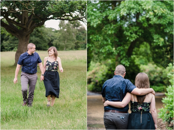 Fine Art Film Photographer UK Langley Park Engagement Shoot_0003