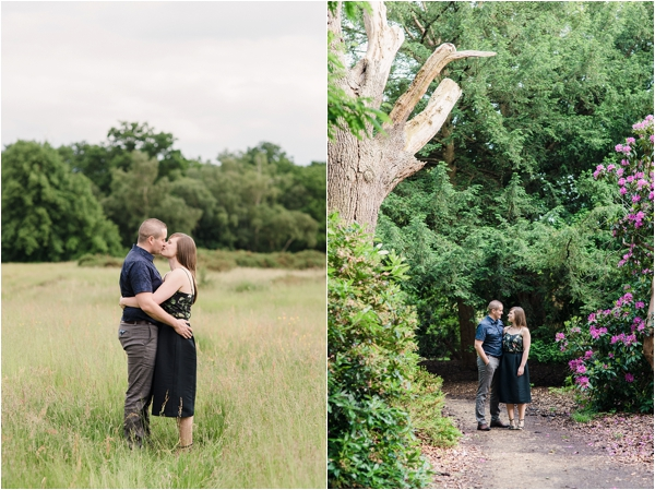 Fine Art Film Photographer UK Langley Park Engagement Shoot_0007