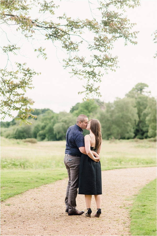 Fine Art Film Photographer UK Langley Park Engagement Shoot_0010