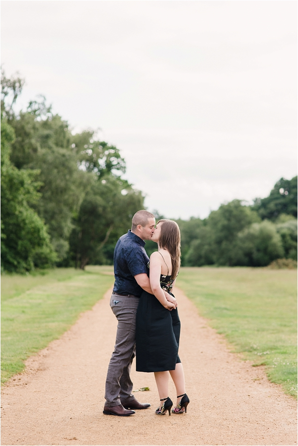 Fine Art Film Photographer UK Langley Park Engagement Shoot_0012