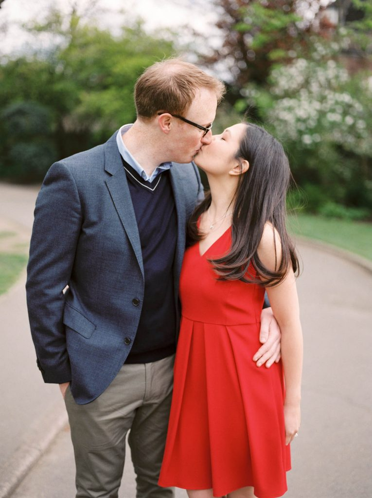 Film Wedding Photographer London Holland Park Engagement Shoot