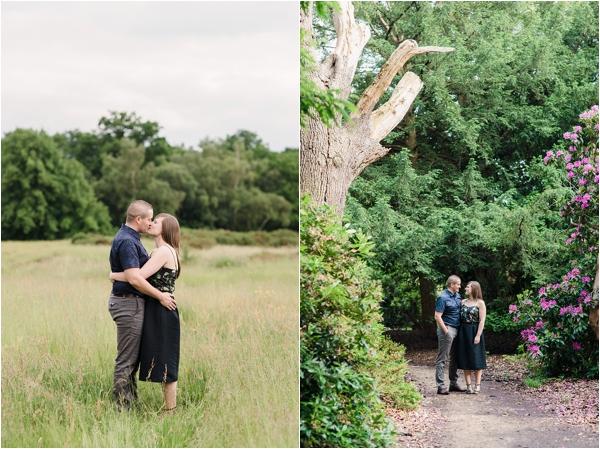 Fine Art Film Photographer UK Langley Park Engagement Shoot_0007