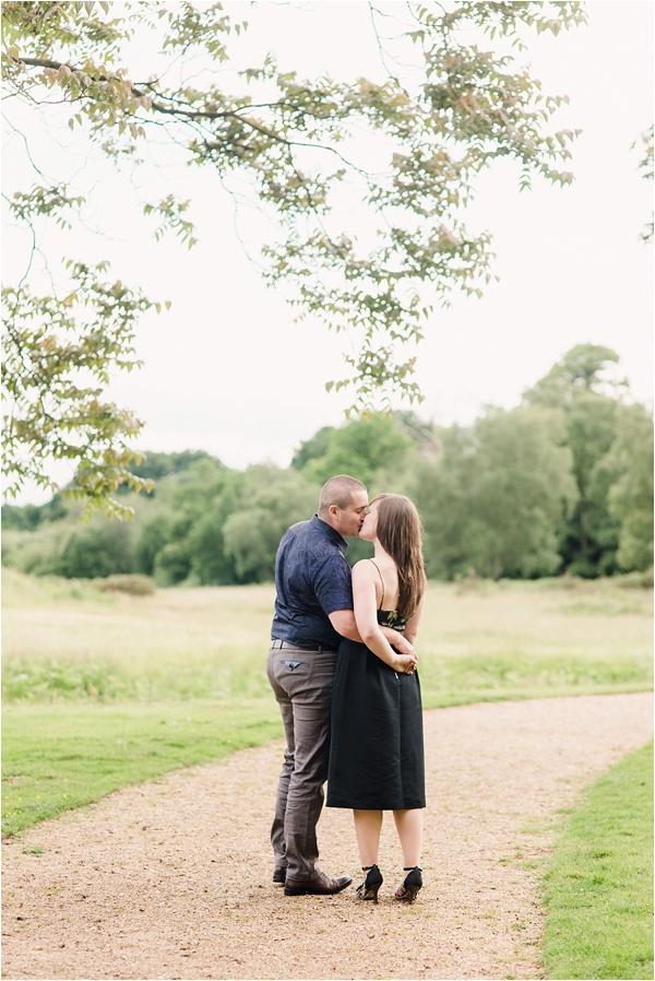 Fine Art Film Photographer UK Langley Park Engagement Shoot_0010