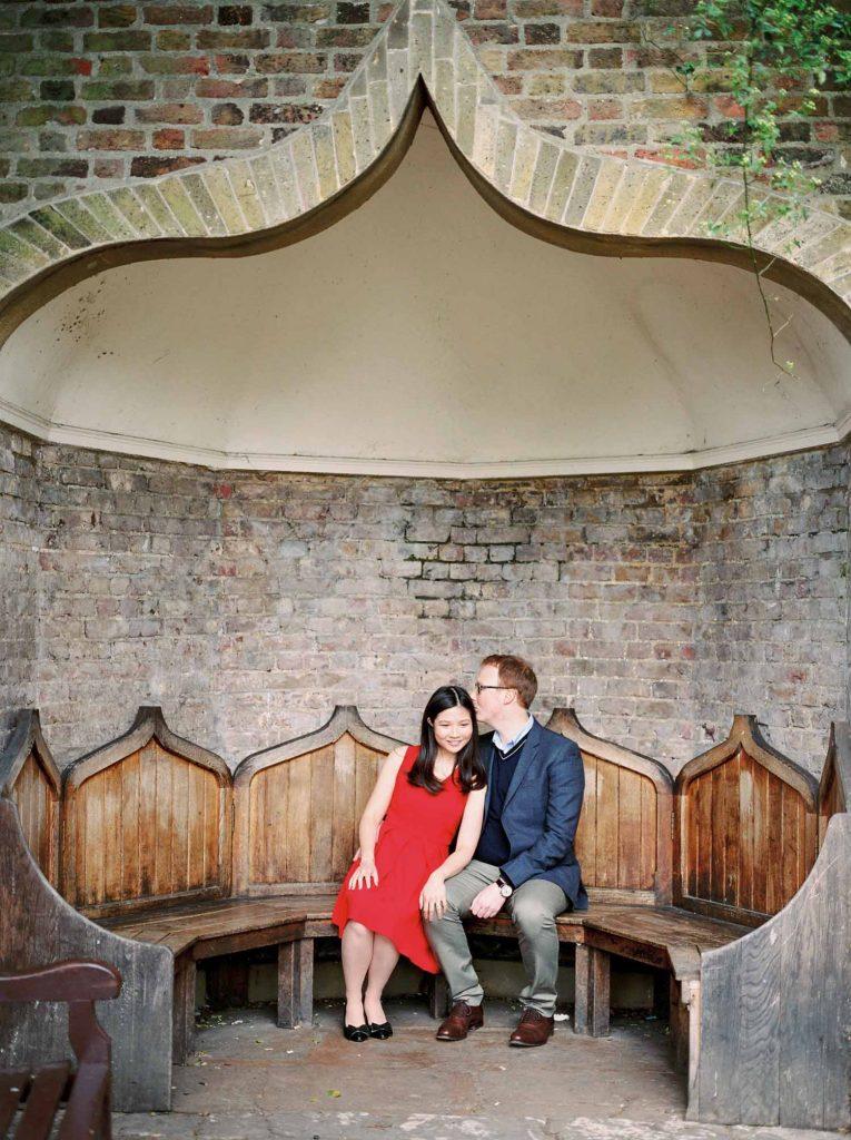 Film Wedding Photographer London Holland Park Engagement Shoot